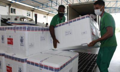Remessa com 629.350 doses de vacina contra Covid-19 chega à Bahia