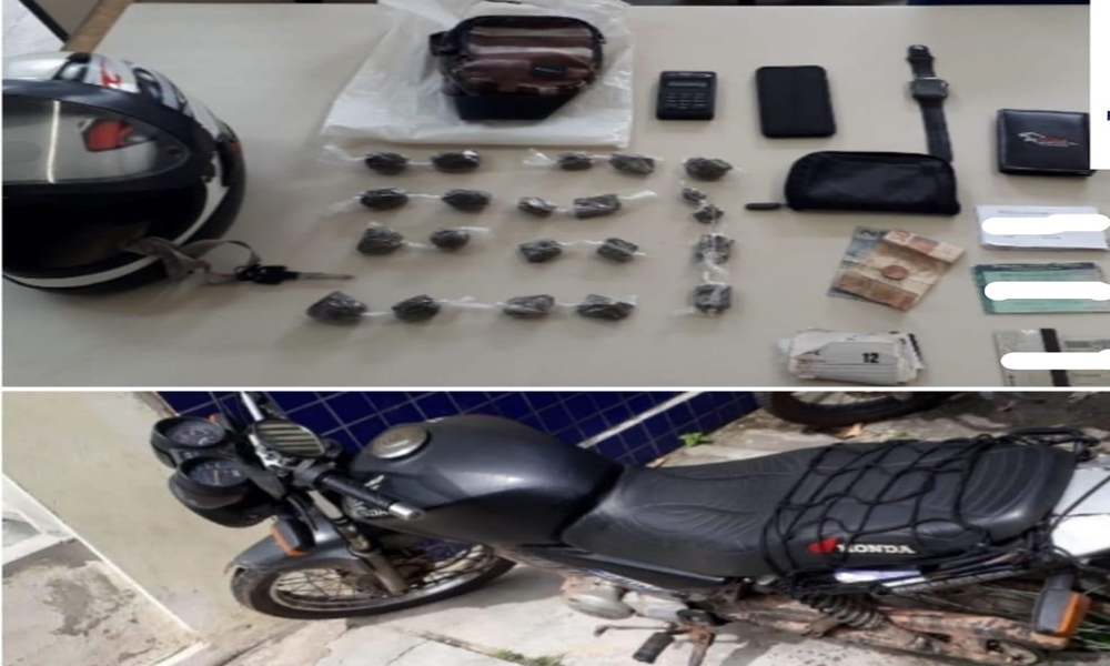 Polícia prende jovem suspeito de traficar drogas no bairro Santa Maria