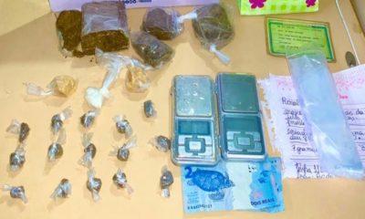 Casal é preso com drogas no bairro Santa Terezinha