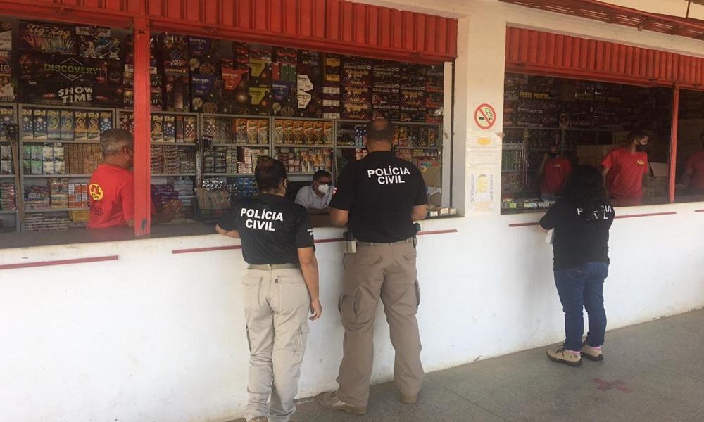 Operação fiscaliza venda de fogos de artifício na Bahia