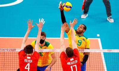 Jogos: Brasil perde para o Comitê Russo no vôlei masculino