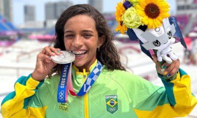 Aos 13 anos, Rayssa Leal se torna medalhista olímpica mais jovem da história do Brasil
