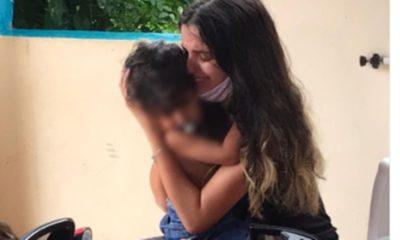 Criança de três anos é devolvida para a mãe após três meses distante