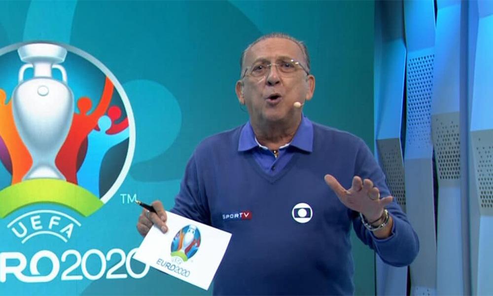"""""""Não se encerra assim"""", dispara Galvão Bueno ao se irritar com atitude da Rede Globo em final da Eurocopa"""