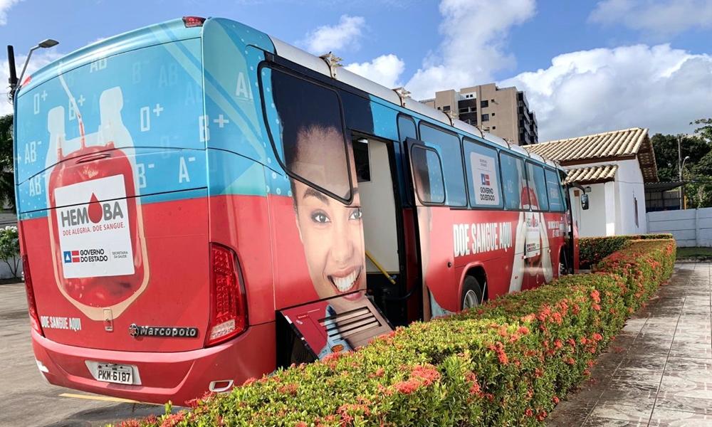 Unidade móvel do Hemoba realiza coleta até sábado em Lauro de Freitas