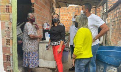 Equipe da Sehab realiza vistoria nas casas pulverizadas do Burissatuba