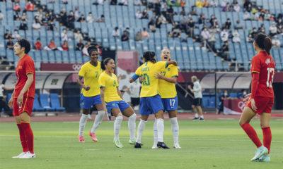 Seleção Brasileira Feminina de Futebol goleia China na estreia das Olimpíadas de Tóquio
