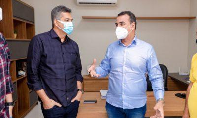 Júnior Borges se reúne com prefeito Carlos Matos de Riachão do Jacuípe