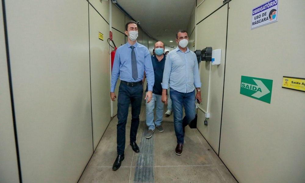 Em viagem ao sul do estado, Júnior Borges e Dilson Magalhães Jr. visitam Câmara e Prefeitura de Itabuna