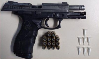 Arma, drogas e munições são apreendidas e um suspeito é preso na Massaranduba
