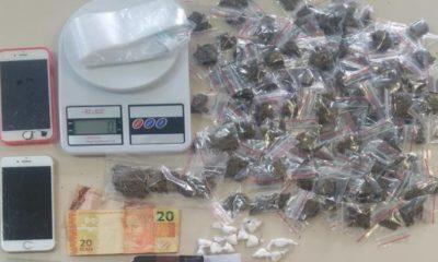 Polícia prende dupla com 139 porções de maconha e 12 de cocaína no Verde Horizonte