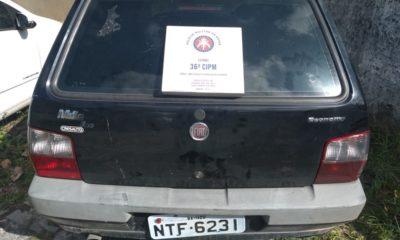 Veículo com restrição de roubo é recuperado pela polícia em Santa Maria