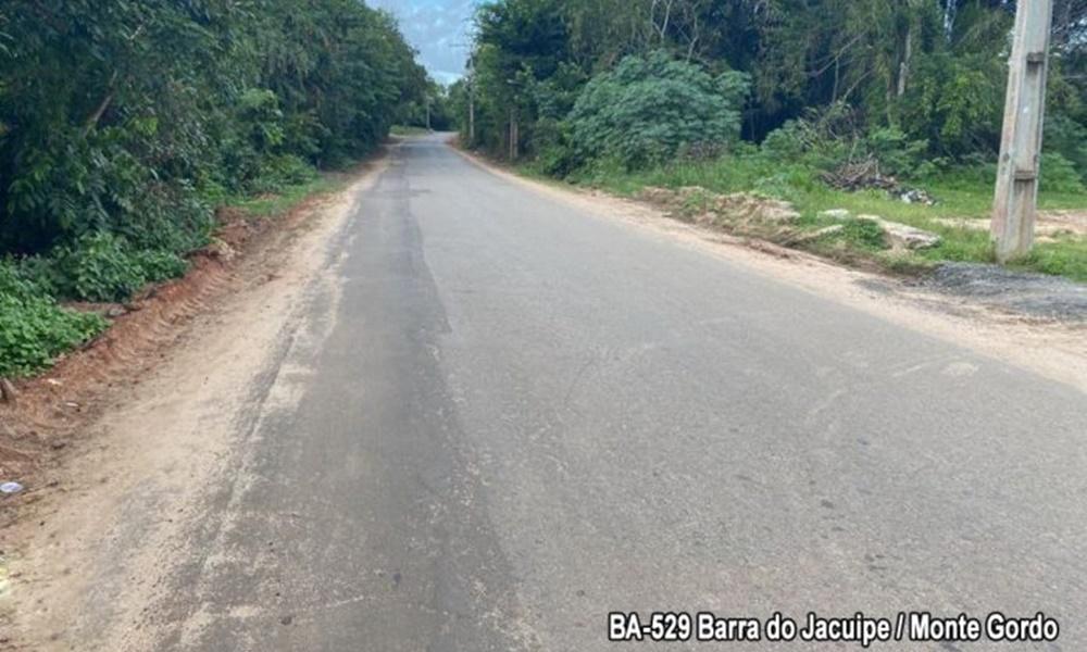 BA-529: rodovia que faz ligação entre Monte Gordo e Barra do Jacuípe passará por restauração