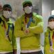 Medalhistas baianos no boxe, Bia, Hebert e Abner desembarcam no Brasil