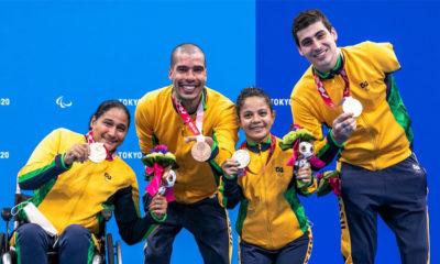 Brasil é bronze no revezamento 4x50 nas Paralimpíadas de Tóquio