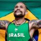 Vinicius Rodrigues garante medalha de prata nos 100m rasos