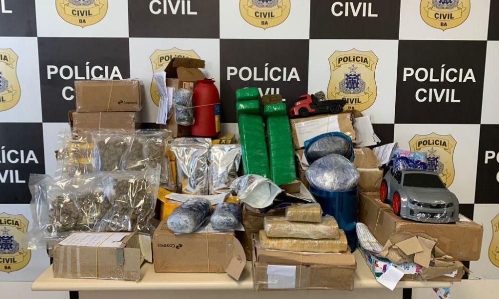 Bahia: 27 encomendas com drogas são apreendidas nos Correios