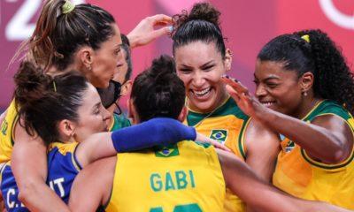 Brasil vence Quênia por 3 sets a 0 e fecha fase de grupos na liderança
