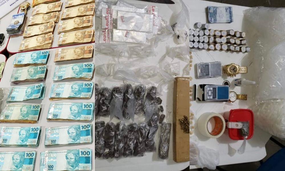 Operação Ocupação prende quatro homens, 674 porções de drogas e mais de R$ 25 mil do tráfico em Candeias