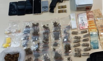 Dupla é presa com drogas, dinheiro e arma de fogo no Verde Horizonte
