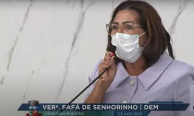 Fafá de Senhorinho apresenta moção de repúdio a Fábio Vilas-Boas