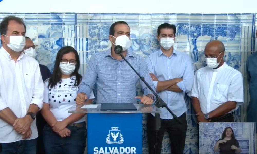 Salvador: 142 mil pessoas não se vacinaram; Bruno Reis afirma que restrições podem voltar caso números aumentem