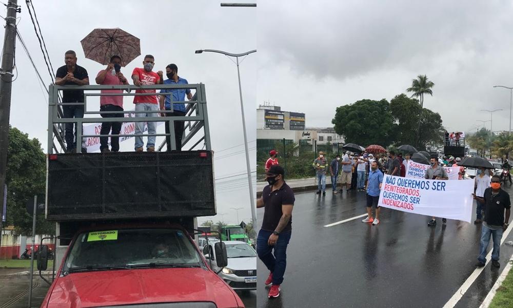Em manifestação, trabalhadores metalúrgicos cobram pagamento de indenizações da Ford