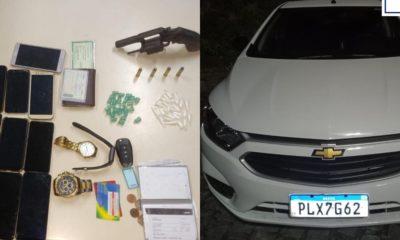 Rondesp RMS prende trio com arma, drogas e 14 celulares roubados em Lauro de Freitas