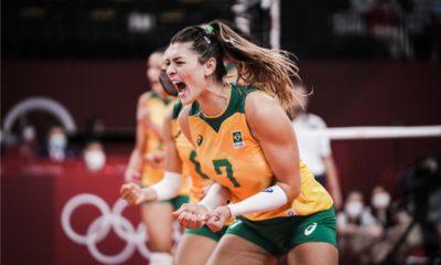Brasil vence Comitê Russo no vôlei feminino e vai para semifinal