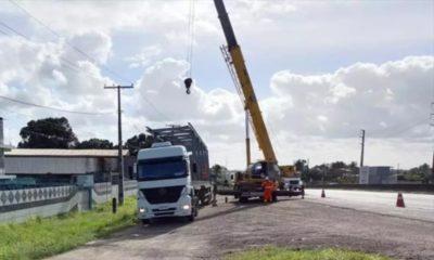 Parte da BR-324 será interditada neste domingo para construção de passarela