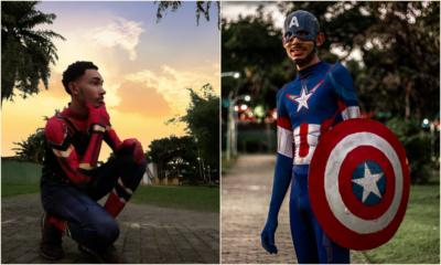 Matense se veste de super-herói para alegrar criançada durante a pandemia