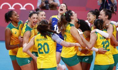 Olimpíadas: Brasil bate Coreia do Sul e garante vaga na final do vôlei feminino