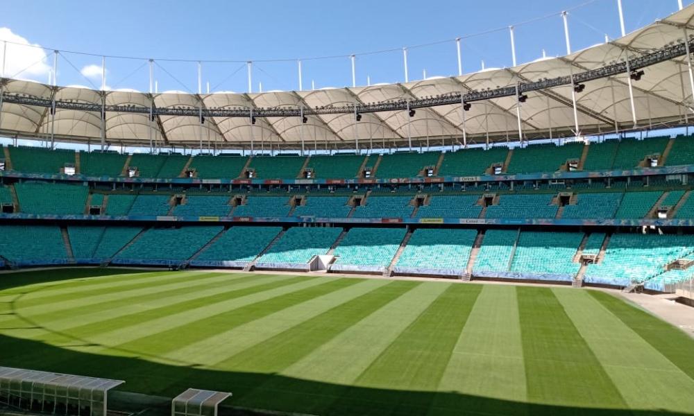Com desativação de leitos, Arena Fonte Nova voltará a sediar partidas de futebol ainda este mês