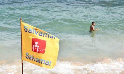Salvamar registra 40 ocorrências neste fim de semana na orla de Salvador