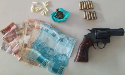 Polícia prende traficante com arma, dinheiro e drogas no bairro Nova Vitória