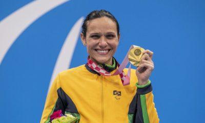 Paralimpíada: Carol Santiago é ouro e Cecília Araújo prata na natação