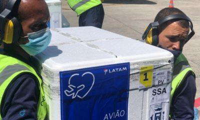 Bahia recebe 371.800 doses de CoronaVac neste sábado