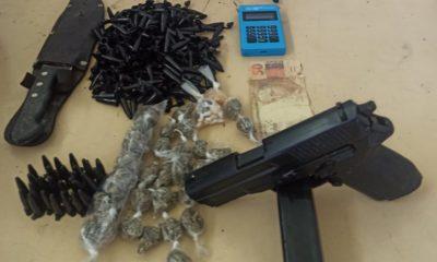 Dois adolescentes são apreendidos com drogas e simulacro de arma de fogo em Dias d'Ávila