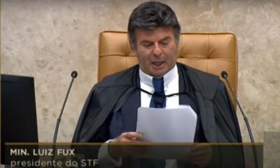 """""""Ninguém fechará essa Corte"""", dispara ministro Luiz Fux em resposta a Bolsonaro"""