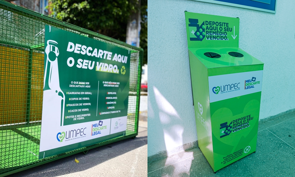 Limpec instala caixas coletoras de vidro e medicamentos vencidos em Camaçari