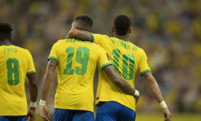 Eliminatórias: com brilho de Neymar e Raphinha, Brasil goleia Uruguai