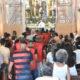 Com risco de rebaixamento para série C, elenco do Vitória vai à missa na Igreja do Senhor do Bomfim