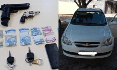 Trio é detido com carro roubado e armas no Alto da Cruz