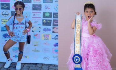 Miniblogueira de quatro anos disputa concurso Miss Continente Bahia em Salvador no dia 17