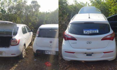 Polícia recupera três veículos roubados em Dias d'Ávila